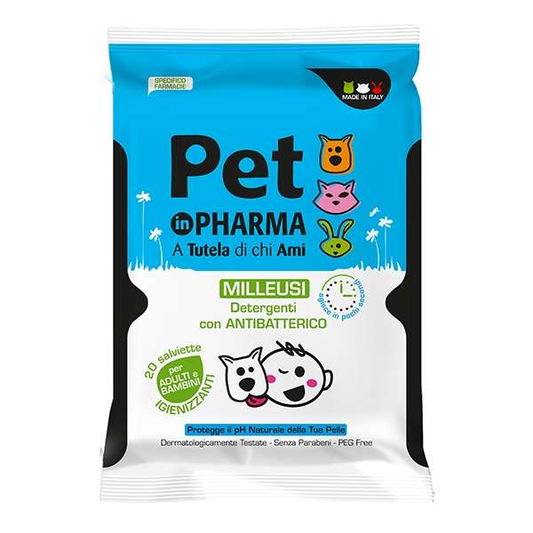 Pet in Pharma Salviette Detergenti Milleusi