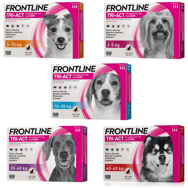 Frontline TriAct Spot On Cani