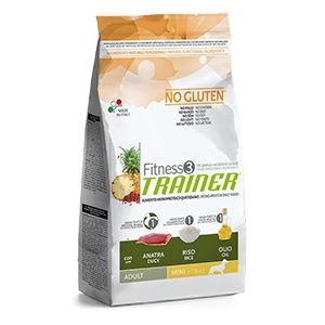 Fitness 3 No Gluten Adult Mini con Anatra, Riso e Olio
