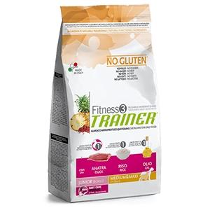 Fitness 3 No Gluten Junior Medium & Maxi con Anatra, Riso e Olio