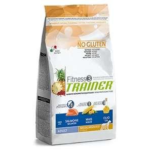 Fitness 3 No Gluten Adult Medium & Maxi con Salmone, Mais e Olio