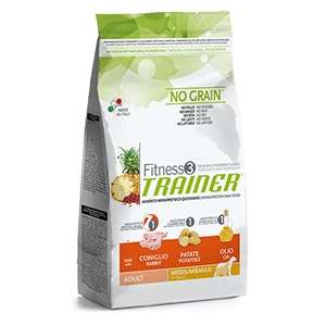 Fitness 3 No Grain Adult Medium & Maxi con Coniglio, Patate e Olio
