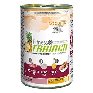 Fitness 3 No Gluten Adult Medium & Maxi con Agnello, Riso e Olio