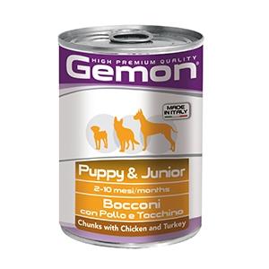 Puppy & Junior Bocconi con Pollo e Tacchino