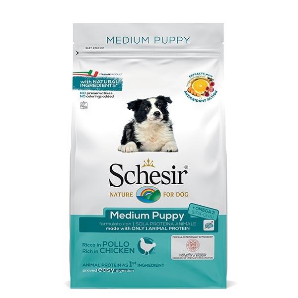 Schesir Dry Line, Puppy Medium al Gusto Pollo