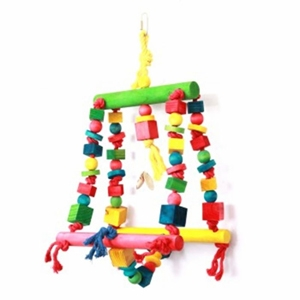 Parrot Toy Double Swing