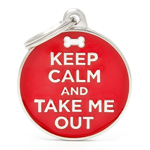 Medaglietta Charms Keep Calm and Take Me Out