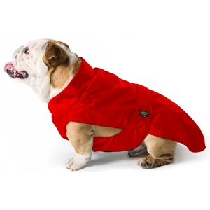 Cappotto Impermeabile con Imbottitura Staccabile Rosso per Bulldog