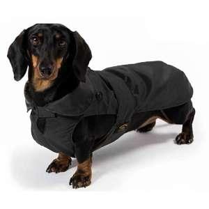 Cappotto Impermeabile con Imbottitura Staccabile Nero per Bassotto