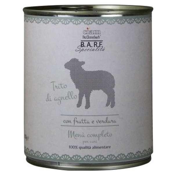 Barf Menu Completo Trito di Agnello per Cani