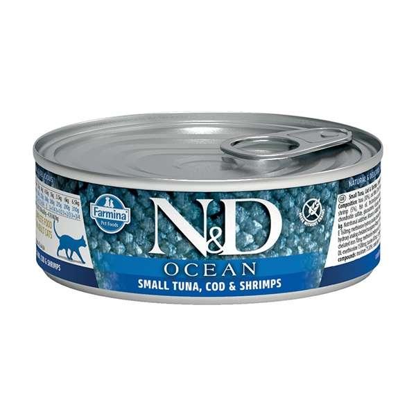 Natural & Delicious Ocean con Tonnetto, merluzzo e Gamberetti