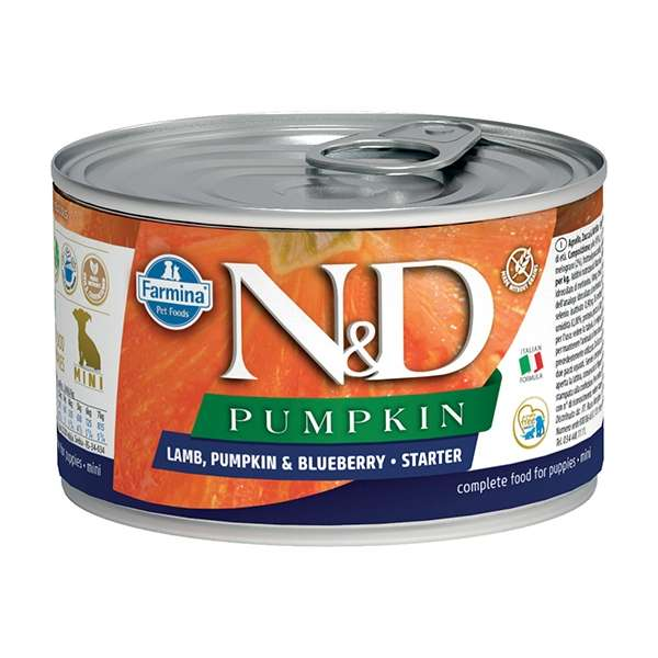 Natural & Delicious Pumpkin Starter Mini con Agnello, Zucca e Mirtillo
