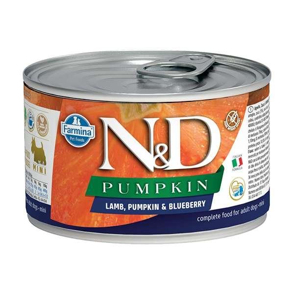 Natural & Delicious Pumpkin Mini con Agnello, Zucca e Mirtillo