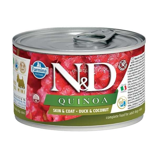 Natural & Delicious Quinoa Skin & Coat Mini con Anatra e Cocco