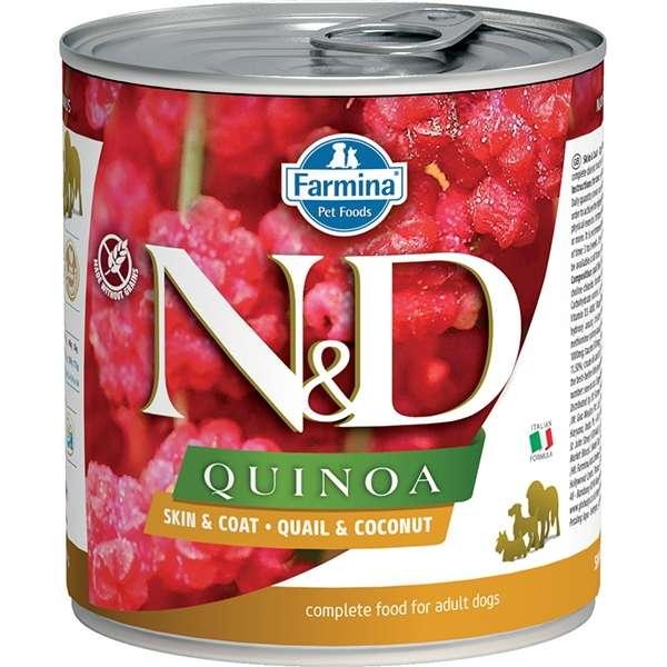 Natural & Delicious Quinoa Skin & Coat con Quaglia e Cocco