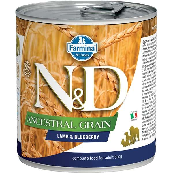 Natural & Delicious Ancestral Grain con Agnello e Mirtilli