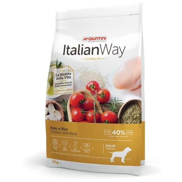 Italian Way Classic Fit Medium Adult Pollo e Riso