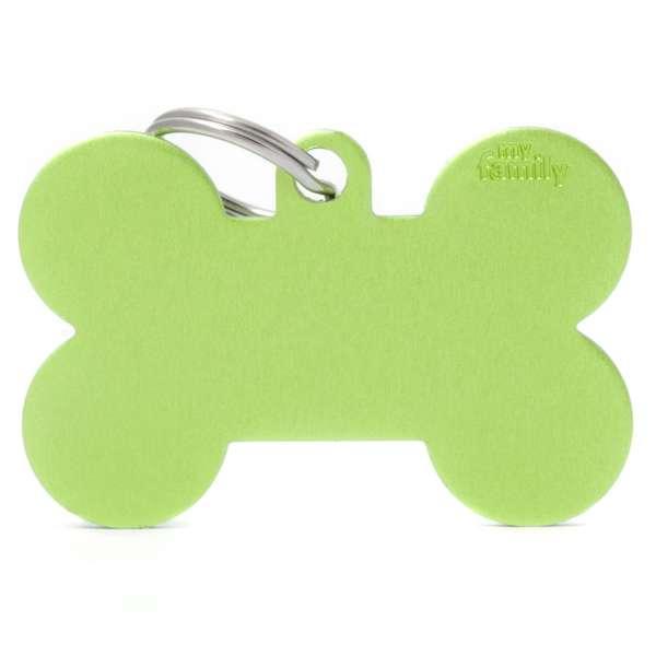 Medaglietta Basic Osso XL Verde in Alluminio