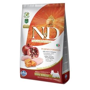 Natural & Delicious Pumpkin Grain Free Adult Mini con Pollo, Zucca e Melograno