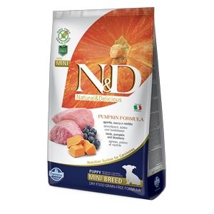 Natural & Delicious Pumpkin Grain Free Puppy Mini con Agnello, Zucca e Mirtillo