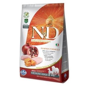 Natural & Delicious Pumpkin Grain Free Adult Medium & Maxi con Pollo, Zucca e Melograno