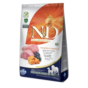 Natural & Delicious Pumpkin Grain Free Adult Medium & Maxi con Agnello, Zucca e Mirtillo