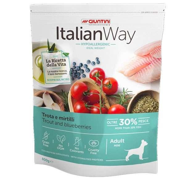 Italian Way Ideal Weight Hypoallergenic Mini Adult Trota e Mirtilli