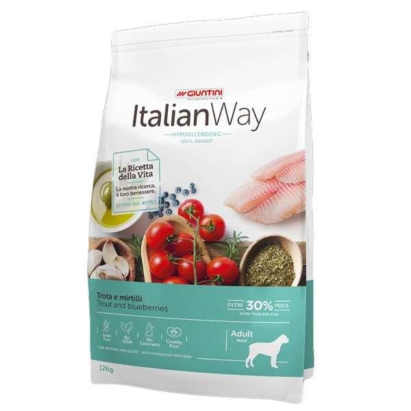 Italian Way Ideal Weight Hypoallergenic Maxi Adult Trota e Mirtilli