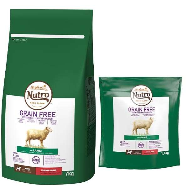 Dog Grain Free Small con Agnello