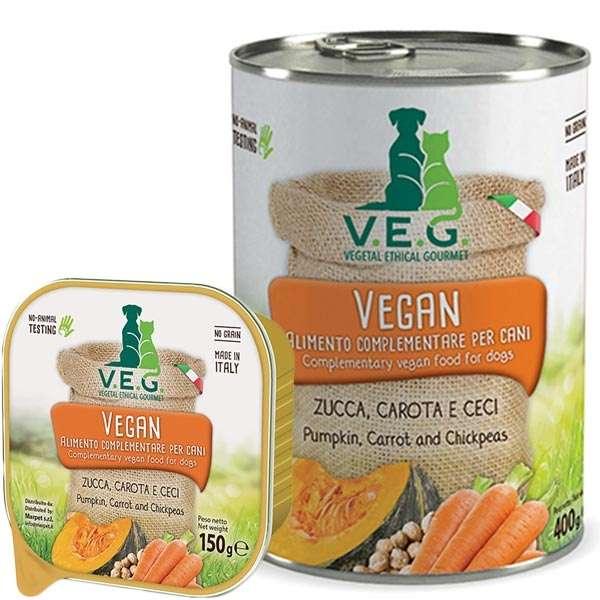 Vegan Dog con Zucca, Carota e Ceci