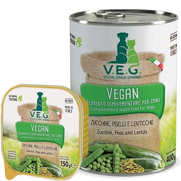 Vegan Dog con Zucchine, Piselli e Lenticchie