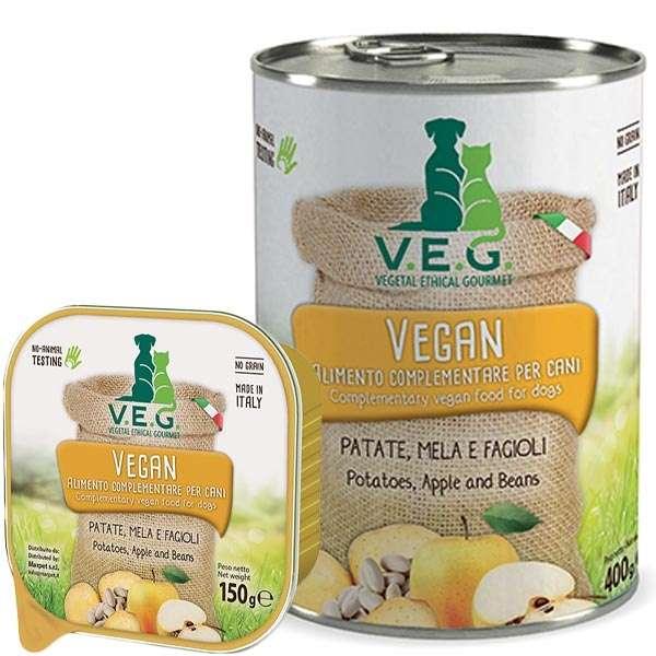 Vegan Dog con Patate, Mela e Fagioli
