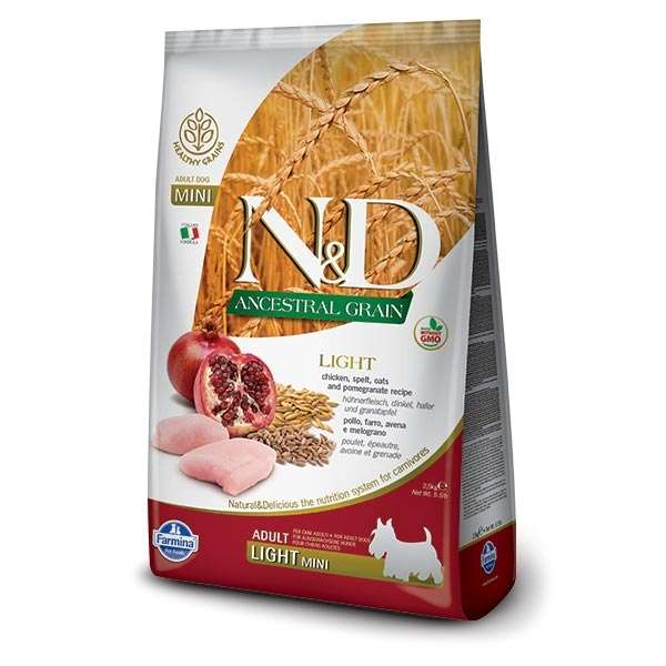 Natural & Delicious Low Ancestral Grain Light Adult Mini con Pollo e Melograno