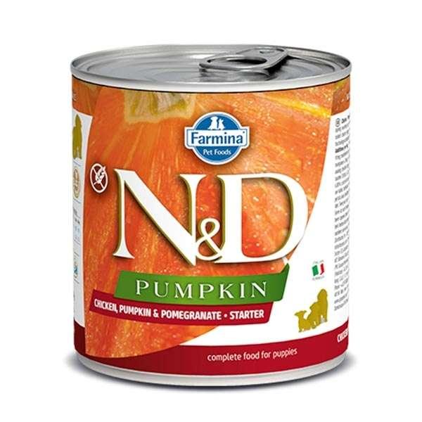 Natural & Delicious Pumpkin Starter con Pollo, Melograno e Zucca
