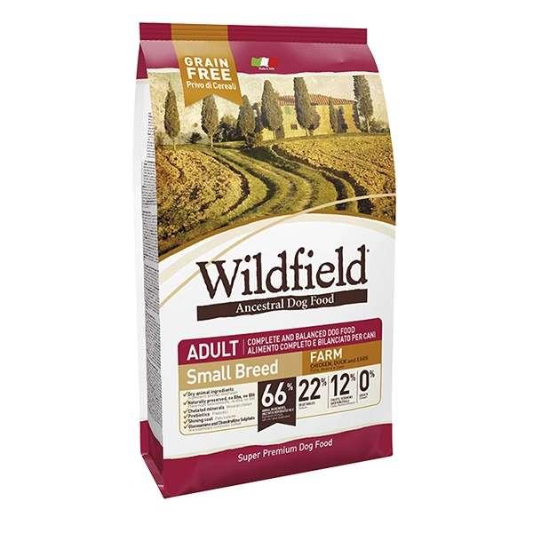 Wildfield Grain Free Farm Adult Small Breed Pollo, Anatra e Uova