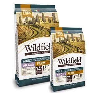 Wildfield Grain Free Farm Cat Adult Pollo, Anatra e Uova