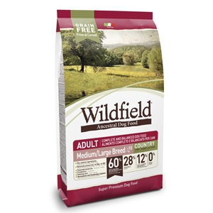 WildField Grain Free Country Adult Medium & Large Breed Maiale, Coniglio e Uova