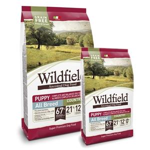 WildField Grain Free Country Puppy All Breed Pollo. Salmone e Uova