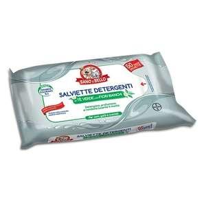 Salviette Detergenti al Tè Verde con Fiori Bianchi