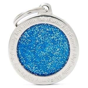 Medaglietta Cerchio Glitter Blu
