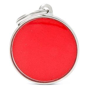 Medaglietta Reflective Cerchio Rosso