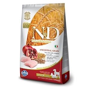 Natural & Delicious Low Ancestral Grain Senior Mini & Medium con Pollo e Melograno
