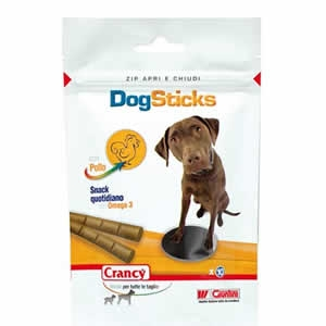 Crancy Dog Sticks con Pollo