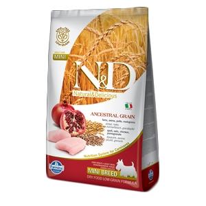 Natural & Delicious Low Ancestral Grain Adult Mini con Pollo e Melograno