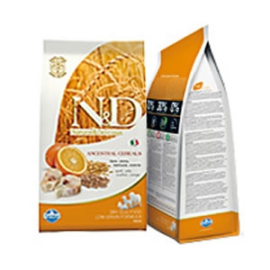 Natural & Delicious Low Ancestral Grain Adult Medium con Merluzzo e Arancia