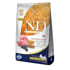 Natural & Delicious Low Ancestral Grain Adult Mini con Agnello e Mirtillo