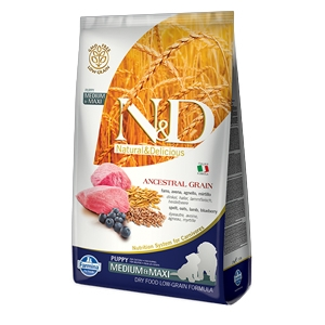 Natural & Delicious Low Ancestral Grain Puppy Medium & Maxi con Agnello e Mirtillo