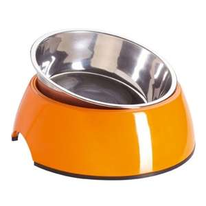 Melamine Feeding Bowl Arancio