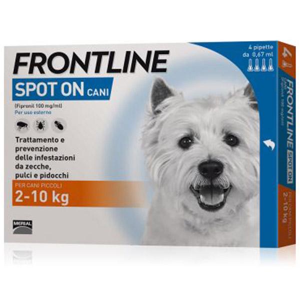 Frontline Spot On - Cani -  Cani da 2 a 10 Kg | 4 Pipette da 0,67 ml