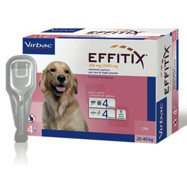 Effitix Soluzione Spot-On 4 Pipette - Cane Large (20 - 40Kg) - 4 pipette